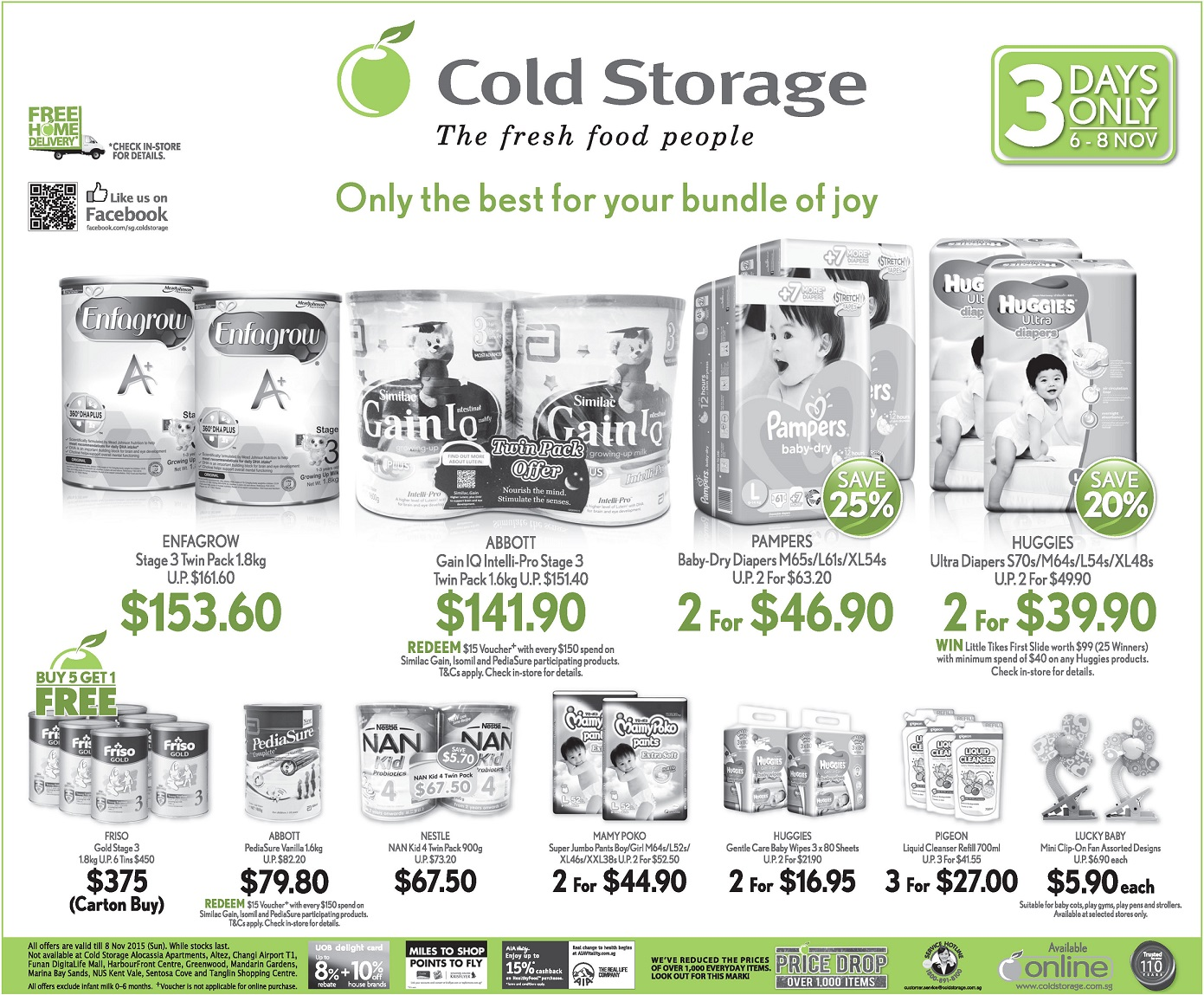 Diaper Promotion Singapore Pampers Huggies Merries Drypers Mamy Baby Diapers New Born 24 S