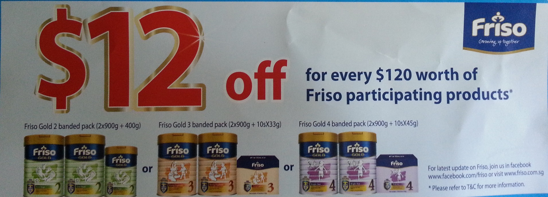 Friso Promotion Twin Pack With Free Sachets And Voucher Frisolac Gold 2 900gr