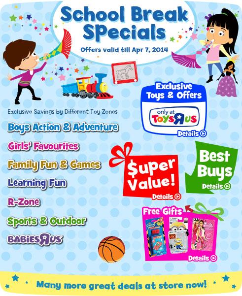 Toys R Us School Break Specials