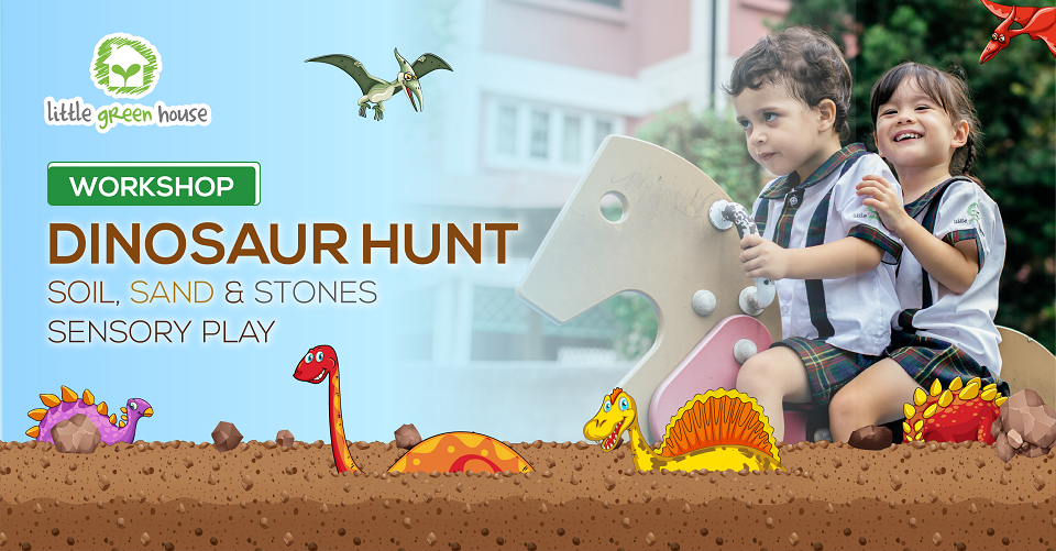 Dinosaur Hunt-A Sensory Play Workshop: Free Entry + Goodie bag for all participating family