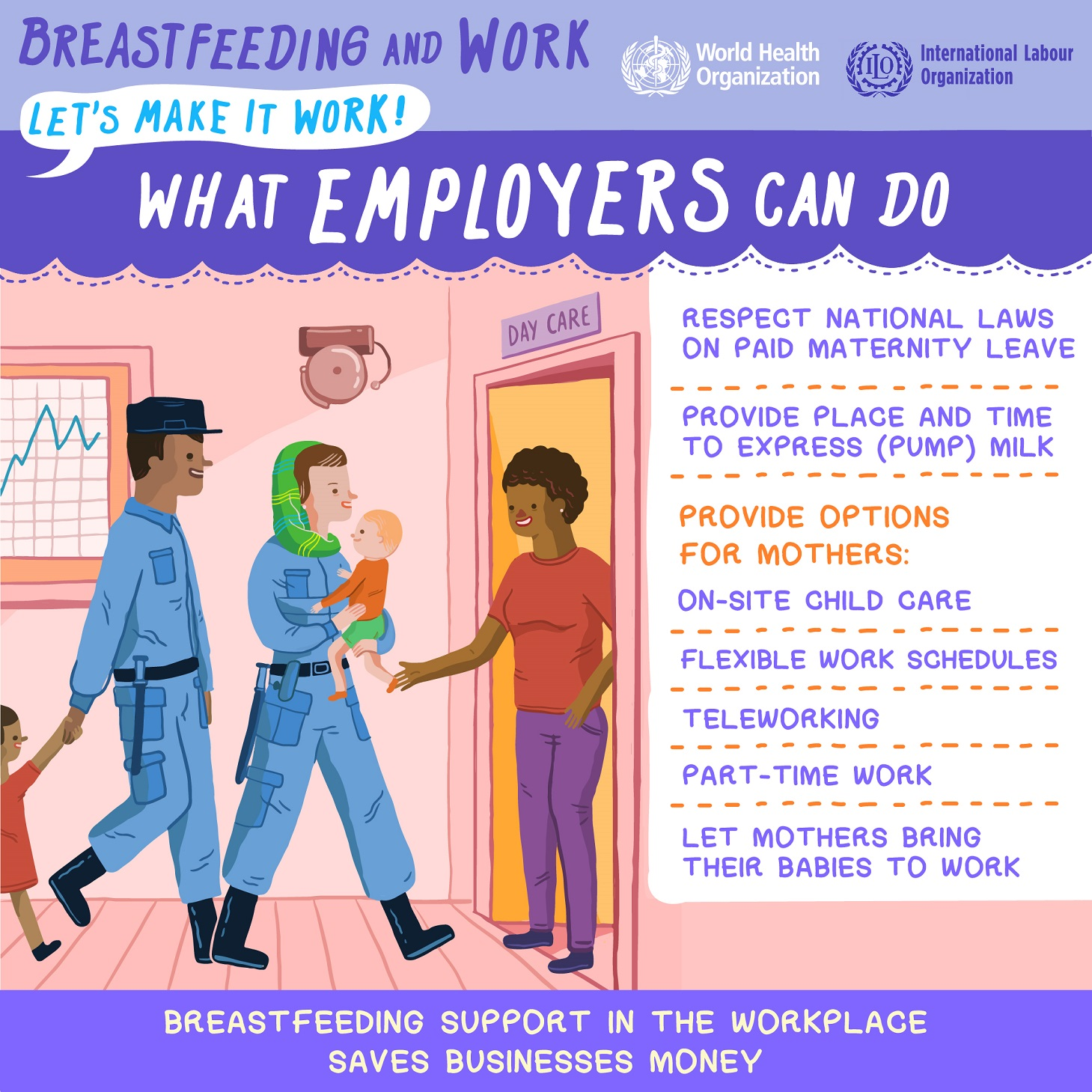 how employer can support breastfeeding