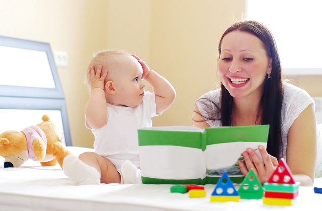 This article explains the growth of four-month-old infants in their hearing, vision, touch reception, body movement, speech and language development, communication skills and emotional development.