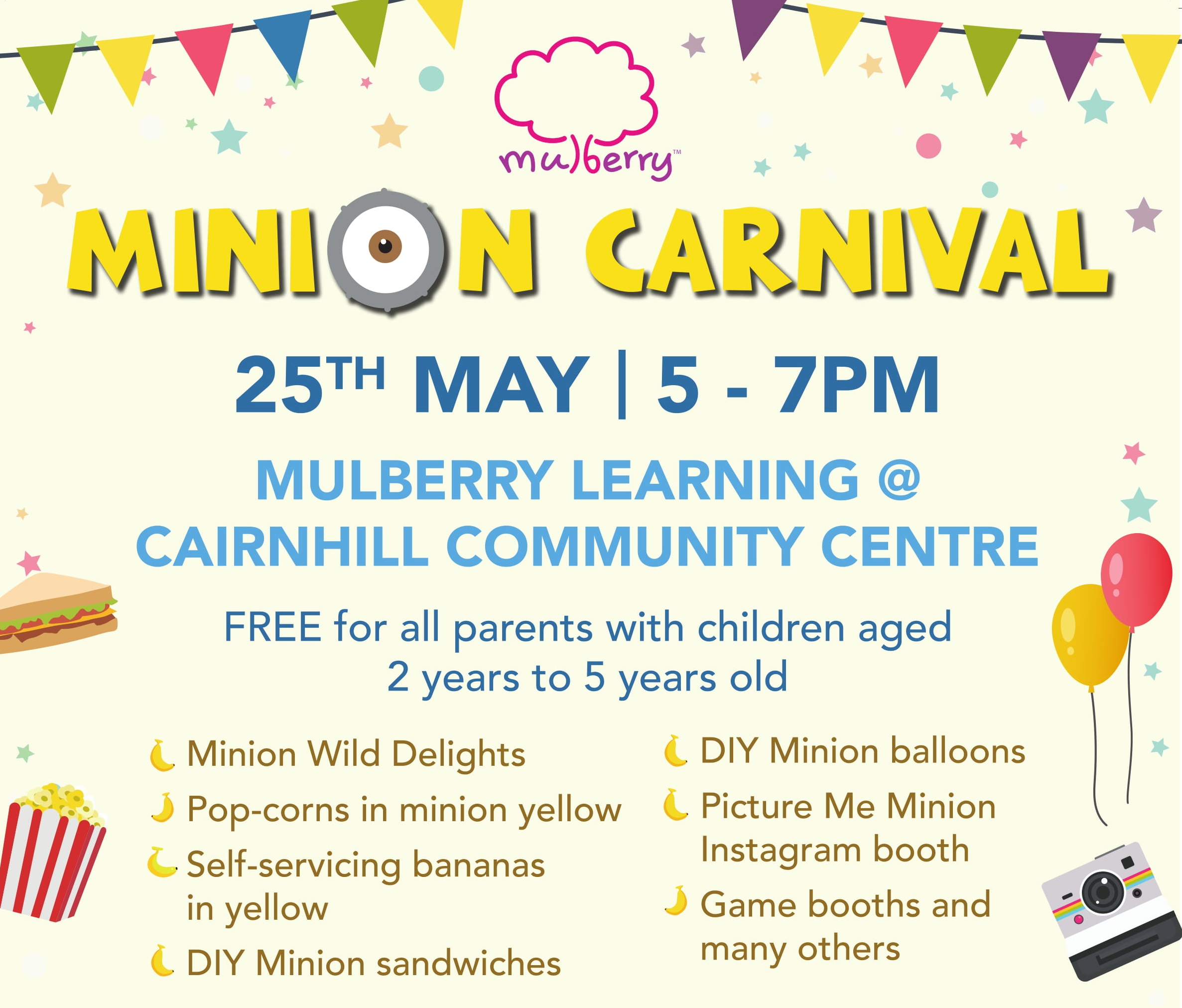 Minion Carnival at Mulberry Learning @ Cairnhill