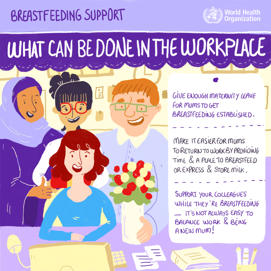 how workplace can support breastfeeding